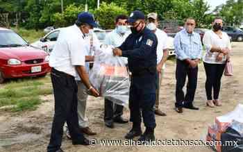 Entregan uniformes a policías en Jalpa de Méndez - El Heraldo de Tabasco