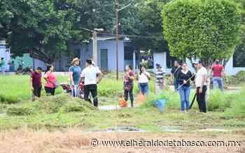 Limpian espacios públicos en Jalpa de Méndez - El Heraldo de Tabasco