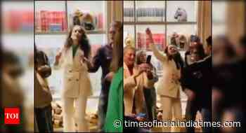 Watch: Kangana grooves to Gulabi Aankhen