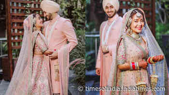 A wedding gift so elegant! Designer Sabyasachi Mukherjee gifted Neha Kakkar and Rohanpreet Singh their gorgeous pastel pink wedding ensembles