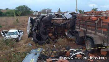 Quatro pessoas morrem em colisão frontal na BA 120 trecho Queimadas-Santaluz - Calila Notícias