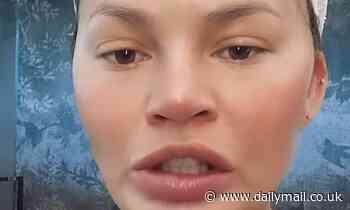 Chrissy Teigen frantically deletes 'stupid' Twitter clips