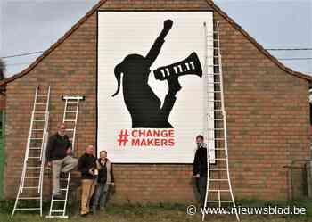 Muurschilderij zet 11.11.11 in de kijker (Kortemark) - Het Nieuwsblad