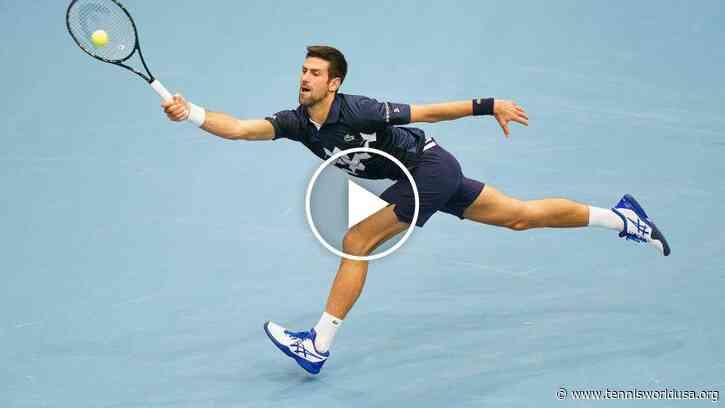 ATP Vienna: Novak Djokovic SUPER around the net!