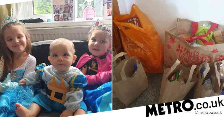 Struggling mum in tears after stranger leaves free meals on doorstep for kids