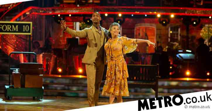Strictly 2020: Caroline Quentin 'collapses' during rehearsals as dance pro Johannes Radebe jokes he's 'killed her'