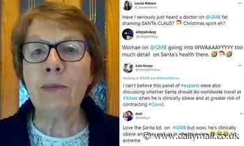 Public health expert blasted for 'fat shaming' Santa on Good Morning Britain
