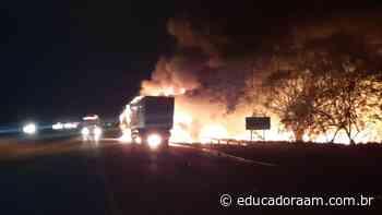 Educadora AM - Incêndio em caminhões interdita rodovia dos Bandeirantes de Limeira - Educadora