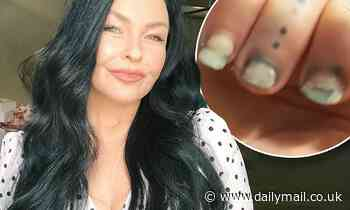 Schapelle Corby flaunts her chipped nail polish and battered cuticles