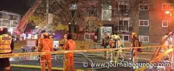 [PHOTOS] Incendie dans un immeuble de 20 logements de Beauport