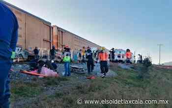 Tren embiste a grúa que intentó ganarle el paso, en Huamantla - El Sol de Tlaxcala