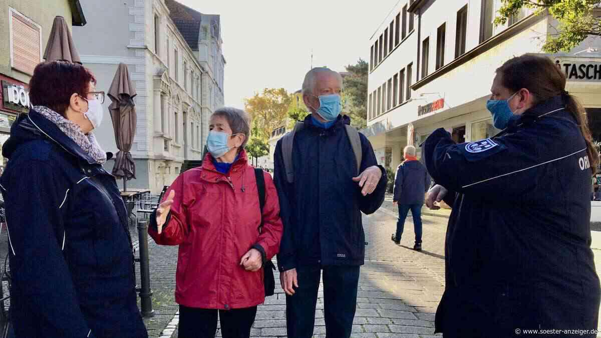 Ordnungsamt patrouilliert durch Innenstadt auf der Jagd nach Corona-Maskenmuffeln   Werl - soester-anzeiger.de