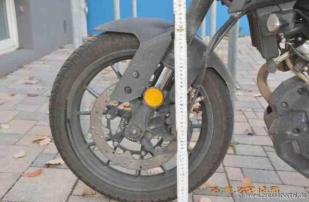 POL-HM: Motorrad beschädigt - Polizei sucht Fahrer eins dunklen BMW