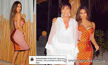 Kim Kardashian tries to stop backlash by encouraging people to vote