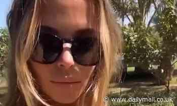 TOWIE's Chloe Lewis wears bandeau bikini top during sunshine break in Dubai