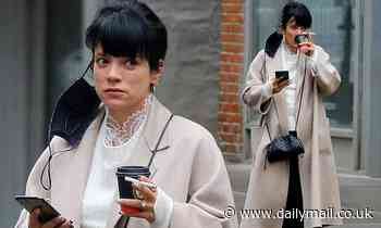 Lily Allen returns to New York to reunite with husband David Harbour