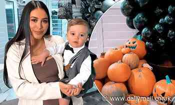Marnie Simpson shows off her epic Halloween decorations as she celebrates son Rox's first birthday