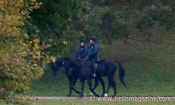 Prince Andrew pictured horse riding near the Queen's Windsor home