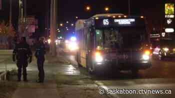 Pedestrian struck by bus in Saskatoon