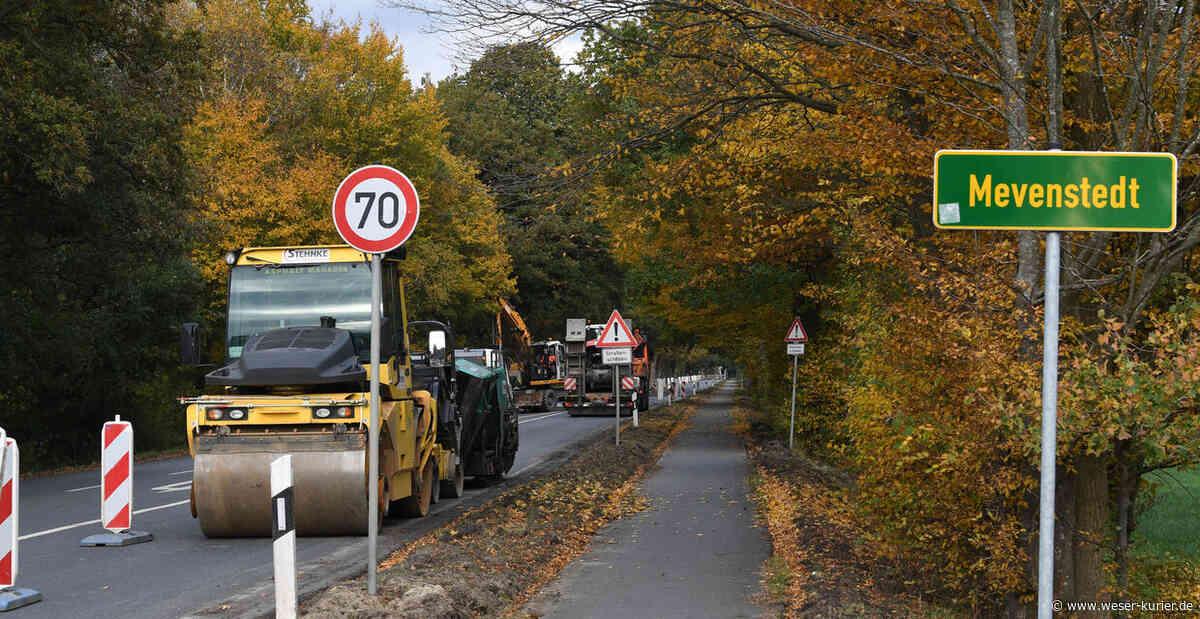 Baustelle zwischen Worpswede und Hüttenbusch sorgt für Ärger - WESER-KURIER