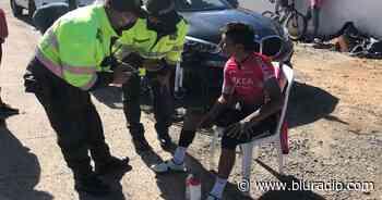 Nairo Quintana sufrió accidente en la vía Tunja – Motavita en pleno entrenamiento - Blu Radio