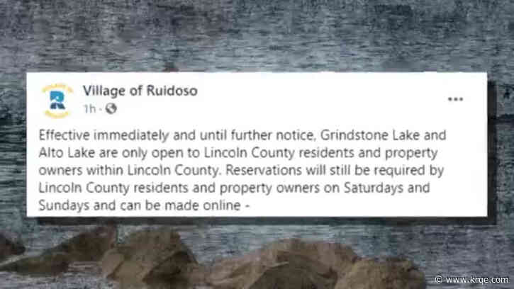 Lakes near Ruidoso now open only to Lincoln County residents