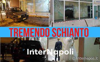 Auto va a finire nella vetrina del negozio tra Qualiano e Villaricca, la dinamica dell'incidente - InterNapoli.it