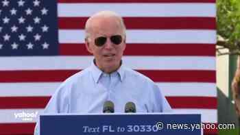 Biden campaigns in Florida ahead of election