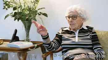 Elsbeth Langer wird heute 100 Jahre alt