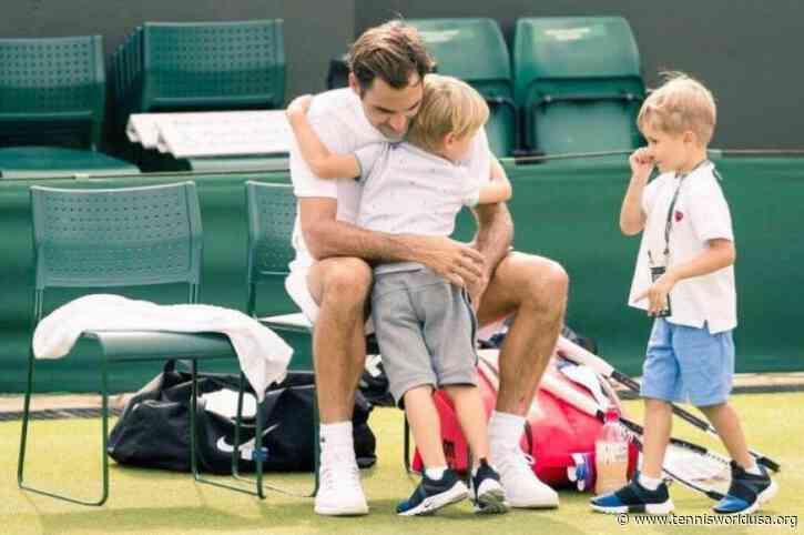 Federer biographer said Roger's son looks promising in...