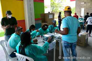 Con protocolos de bioseguridad transcurre jornada electoral en Repelón - EL HERALDO