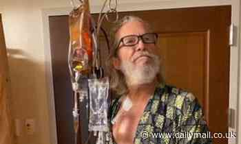 Jeff Bridges, 70, tweets photo hooked up to iv and thanks fans for support after lymphoma diagnosis