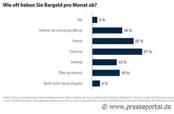 Umfrage: Nur jeder dritte Verbraucher hebt öfter als zweimal pro Monat Bargeld ab