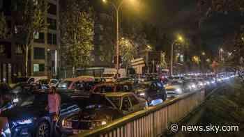 Coronavirus: France lockdown sparks gridlock in Paris, as WHO warns Europe is 'epicentre' of pandemic - Sky News