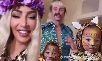 Kim Kardashian and BFF Jonathan Cheban hilariously dress up as Carole Baskin and Joe Exotic
