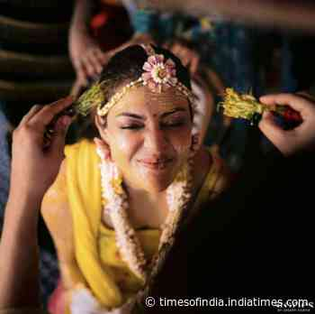 Special moments from Kajal Aggarwal's haldi