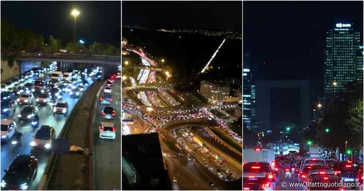 Coronavirus, code chilometriche e traffico in tilt intorno a Parigi: ingorghi record poche ore prima del lockdown – Video