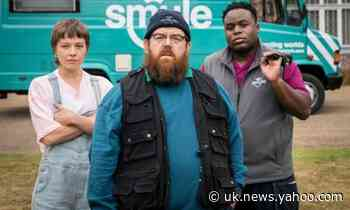 Truth Seekers review – ghostbusting with Simon Pegg and Nick Frost