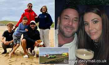 Hero father pulls family-of-SIX including two children to safety from the sea off Gwithian, Cornwall