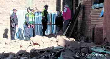 Vivienda de dos pisos en Chupaca se derrumba y vecinos huyen del lugar por pánico - Diario Correo