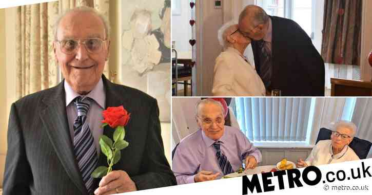 Couple who haven't hugged since February finally reunited for 66th anniversary