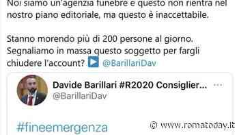 """L'agenzia funebre Taffo contro il tweet negazionista di Davide Barillari: """"Il suo account va chiuso"""""""
