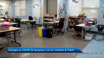 Alberta government adjusts COVID-19 symptom checklist for school-aged kids