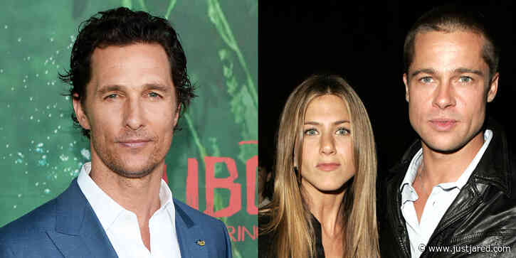 Matthew McConaughey Is Asked If Jennifer Aniston & Brad Pitt Had Any Sexual Tension During 'Fast Times' Reunion