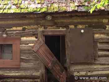 Abandoned colonial settlement, stop on Underground Railroad, falling apart in Snow Camp