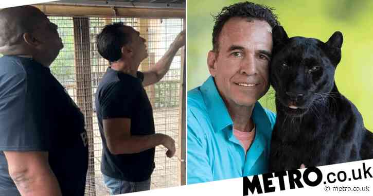 Man paid to 'play' with caged leopard and rub its belly – then complained when it scalped him