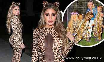 Kim Kardashian's former best friend Larsa Pippen in Tiger King costumes