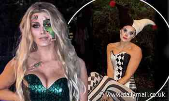 Pregnant Ashley James reflects on her VERY racy Halloween looks over the years