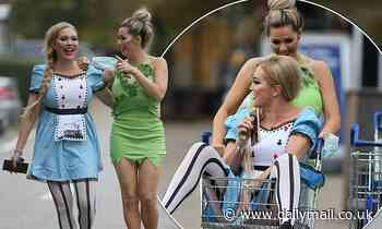 Nicola McLean and Aisleyne Horgan-Wallace turn heads in costumes as they hijack a shopping trolley