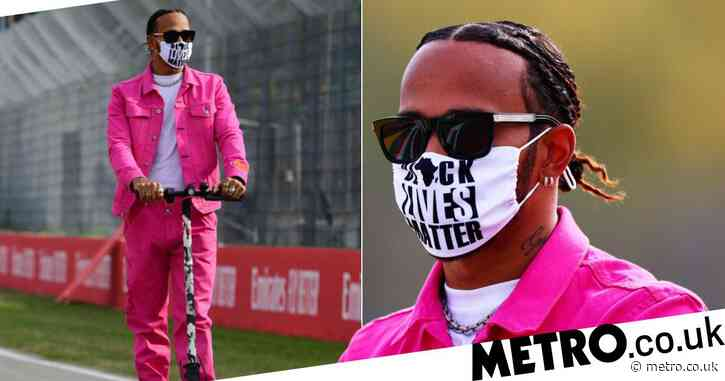 Lewis Hamilton scoots his way to Italian Grand Prix as he dons Black Lives Matter mask